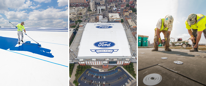 Detroit Lions Select Tremco Roofing And Building